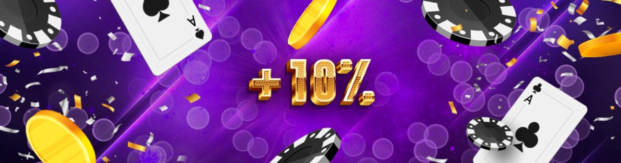 10% на все депозиты от казино Goxbet